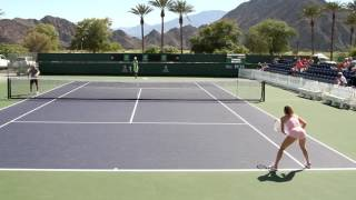 Camila Giorgi Practice 2017 BNP Paribas Open Indian Wells