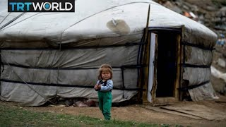 Poverty in Mongolia - Homeless people forced to live underground