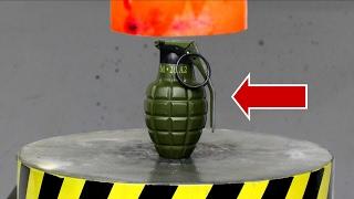 EXPERIMENT Glowing 1000 degree HYDRAULIC PRESS 100 TON vs BOMB (Lighter)