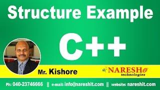 C++ Structure example | C ++ Tutorial | Mr. Kishore