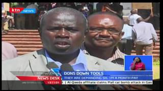Egerton University employees down tools in show of solidarity with other striking university staff