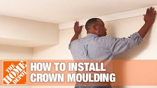How To Install Crown Moulding Part 1: Materials, Measure, Mitre   The Home Depot