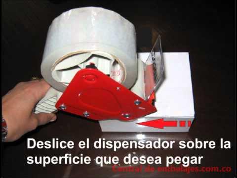 Cómo usar un dispensador de cinta