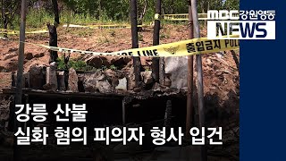 [뉴스리포트]강릉 산불 실화 피의자 형사 입건190522