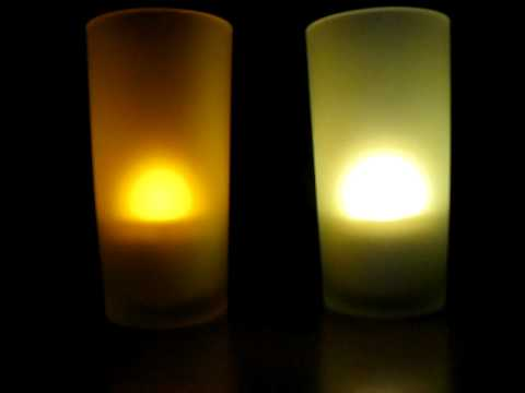 Vergleich LED-Farbe amber&warmweiss