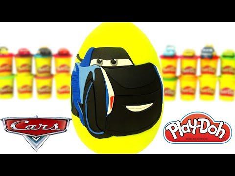 Huevo Sorpresa Gigante de Jackson Storm de La Película Cars 3 de Plastilina Play Doh