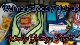 First time doing Walmart Pick-up!! Walmart Haul * Family of 5!