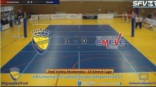 preview picture of video 'Temporada 14/15 - Feel Volley Alcobendas vs CV Emevé Lugo'