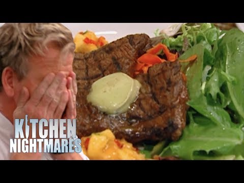 Nervous Chef Loses Cook-Off to Gordon's Steak | Kitchen Nightmares