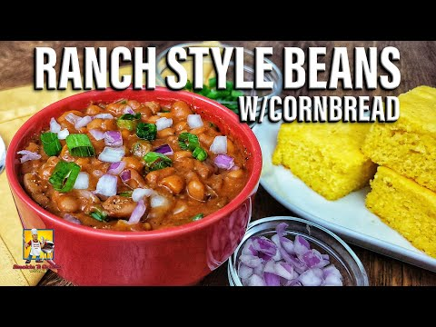 Easy Ranch Style Beans and Corn Bread