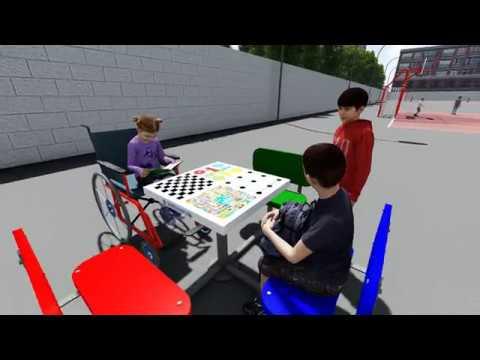 Mesas de juegos de exterior para colegios