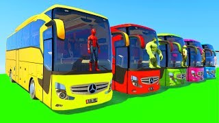 Gambar cover Learn Colors Big Bus for Children & Kids Fun Cartoon Animation with Nursery Rhymes Song