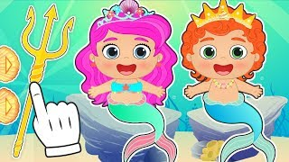 BABY ALEX AND LILY 🌊 Dressing up as Mermaids   Educational Cartoons