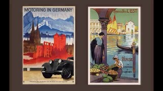 Vintage Travel Posters Europe 20s & 30s Video