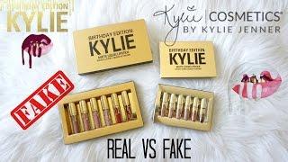 REAL Vs FAKE $6 Kylie Cosmetics Birthday Edition Mini Matte Liquid Lipsticks