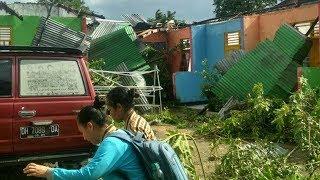 Angin Puting Beliung Terjang Rumah Warga di Kupang, Warga Berhamburan