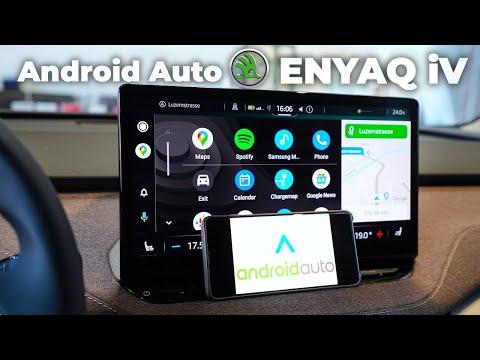 Skoda ENYAQ iV 2021 Android Auto Demonstration Multimedia System