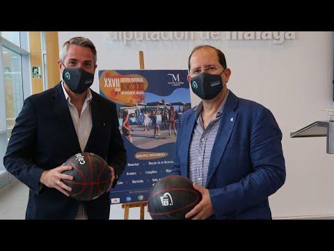 Presentación del XXVII Circuito Provincial de Baloncesto 3x3 Diputación de Málaga 2021