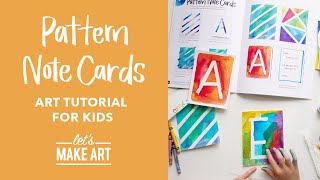 Lets Make Pattern Note Cards | Kids Art Tutorial With Nicole Miyuki
