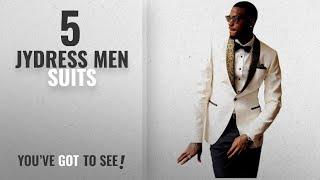Top 10 Jydress Men Suits [Winter 2018 ]: JYDress Mens 2-Piece Groom Suit White One Button Tuxedo