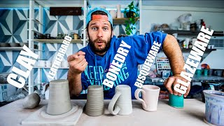 POTTERY BASICS - A Beginners Guide To The Stages Of CLAY!