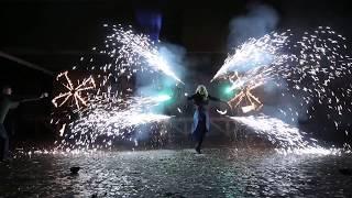 Фаер шоу в Киеве, Игры пристолов, огненное шоу в киеве