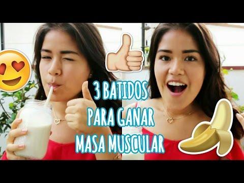3 BATIDOS PARA AUMENTAR MASA MUSCULAR SIN SUPLEMENTOS Y AUMENTAR DE PESO!! | ♥TakeThisTip♥