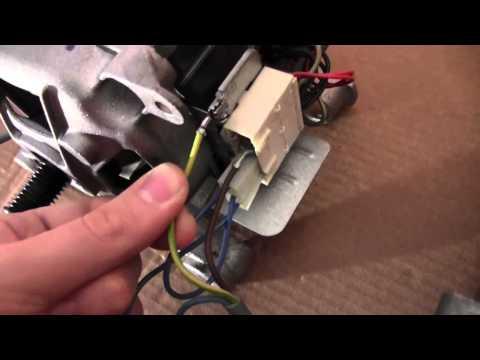 Cablaggio e funzionamento di un motore a collettore a spazzole da lavatrice