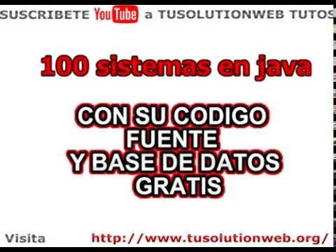 100 sistemas completos gratis - sistemas en java netbeans con mysql código fuente gratis