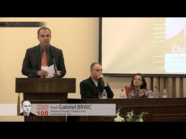 Prof. Gabriel BRAIC  – Simpozion Omagial Traian Dorz 100 – Cluj, 12.09.2013