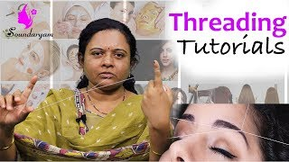 Eyebrow Threading at Home | Simple & Easy Tutorial || Soundaryam ||