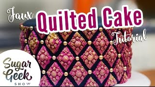 Faux Quilting Pattern With Marvelous Molds