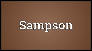 Sampson Meaning