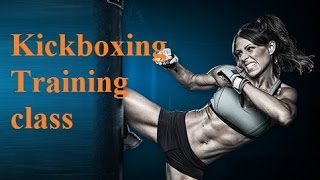 kickboxing training for beginners - kickboxing workout - kickboxing heavy bag class part 1