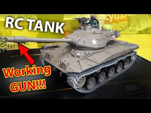 TOO Dangerous for kids - RC TANK with working GUN Heng Long 1/16 3839-1