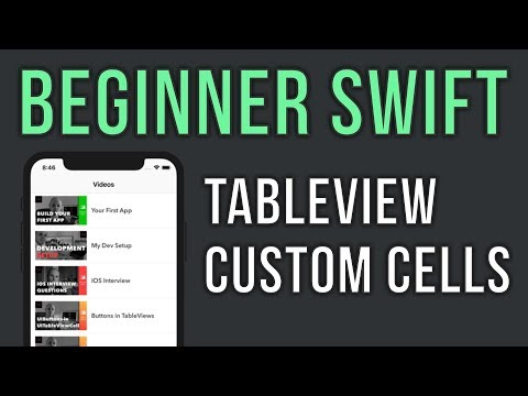 Swift UITableView Tutorial with Custom Cells – Beginner Series