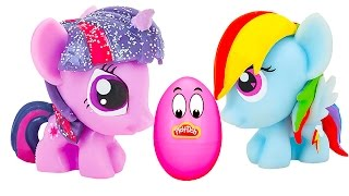Surprise Eggs Play Doh My Little Pony - Surprise Balls Disney Cars Toys Cartoon for Children