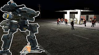 GIANT ROBOT MECHS VS ZOMBIES! | Garry's Mod Gameplay | Gmod Roleplay Zombie Survival (Kid Friendly!)