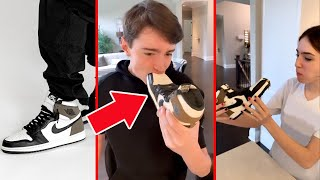 HYPER REALISTIC SHOE CAKE FOR IS BIRTHDAY!!
