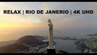 Relax and Fly Over Rio De Janeiro Brazil | 4K Drone