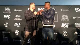 UFC 220: Miocic vs Ngannou Media Day Staredowns