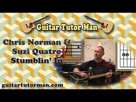 Stumblin' In - Chris Norman & Suzi Quatro - Acoustic Guitar Lesson (easy-ish)