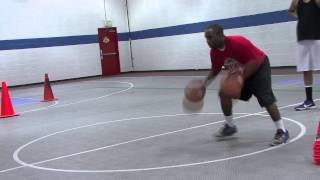 2 Ball Dribble Side to Side Moving