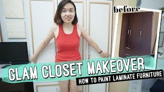 How To Paint Laminate Furniture // Step-by-step Guide // By Elle Uy