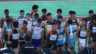 2017.8.2 山形インターハイ 男子 4×400mR 表彰式