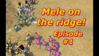 Melee on  the Ridge Episode 1 Stronghold Crusader 2