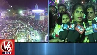 Jadala Ramalingeswara Swamy Brahmotsavalu In Cheruvugattu | Agni Gundam | Nalgonda | V6 News