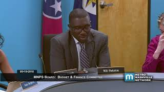 05/15/18 MNPS Budget and Finance Committee