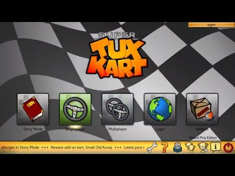 Super Tux Kart – Free Open Source Linux Game! | Review