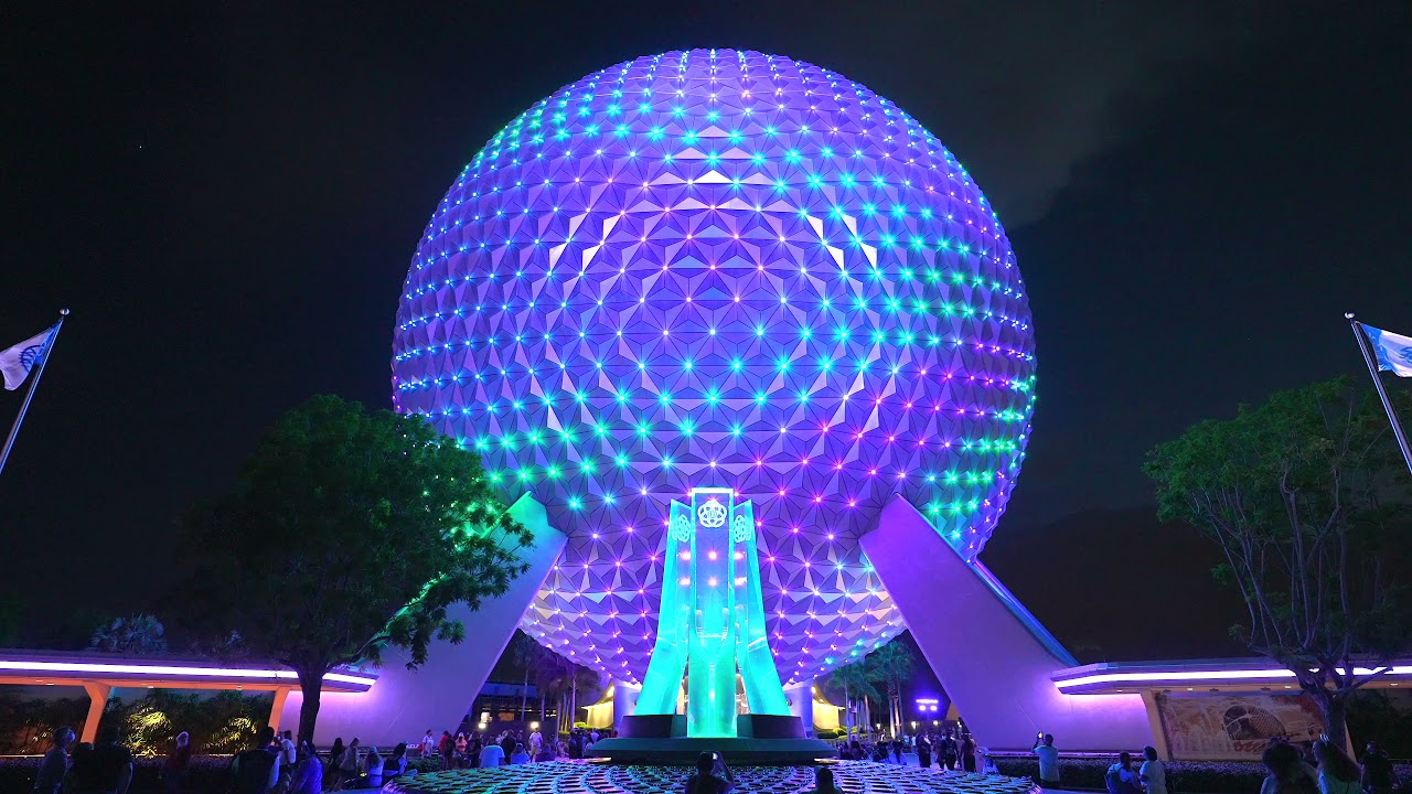 Spaceship Earth Beacon of Magic and lighting patterns